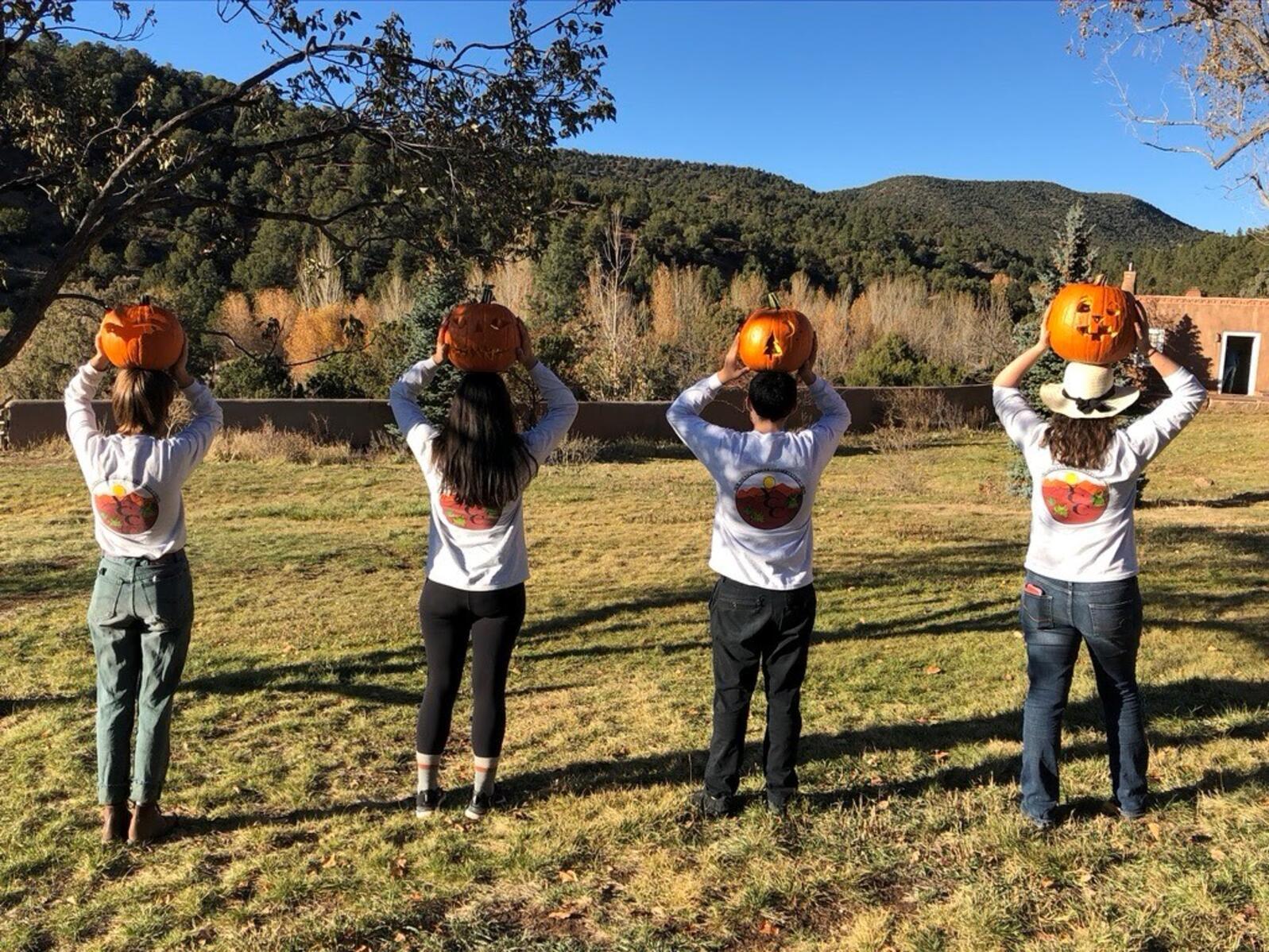 YCC crew with jack-o-lanterns