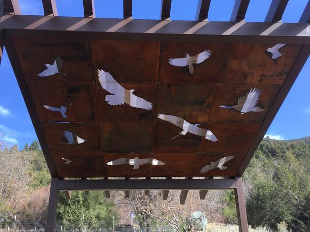 Randall Davey Audubon Center has a new solar shade structure!